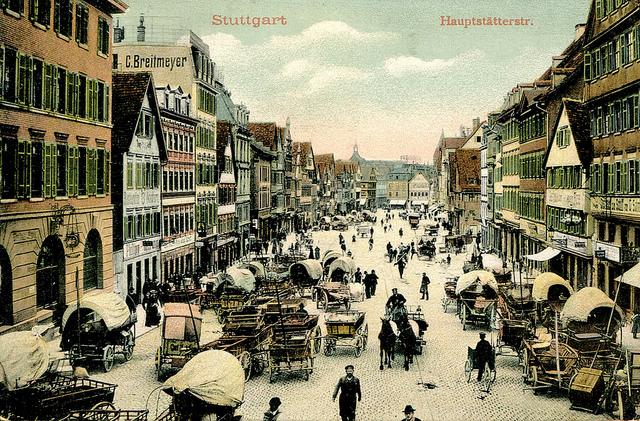 post of Stuttgart - Hauptstätter Strasse (1905 Postcard)