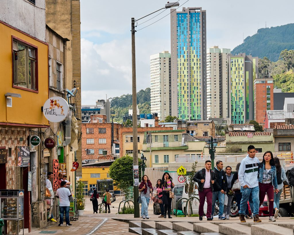 Street picture of people in Bogota, Columbia